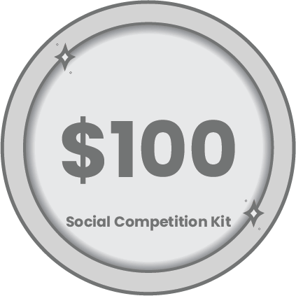100 social competition kit