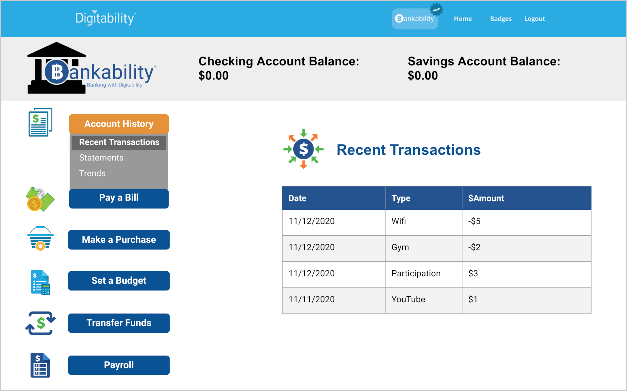 2 Bankability Account History