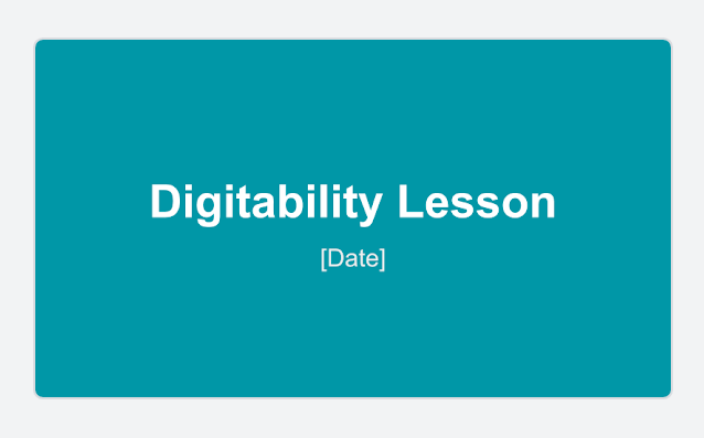 DIgitability google slide template