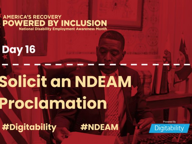 National Disability Employment Awareness Month – Day 16