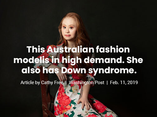 This Australian fashion model is in high demand. She also has Down syndrome.