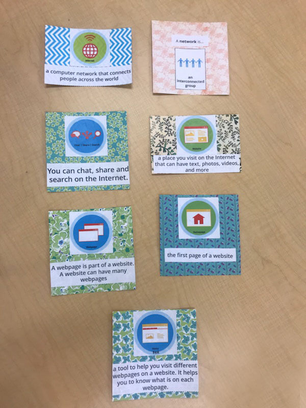 colorful badge cards